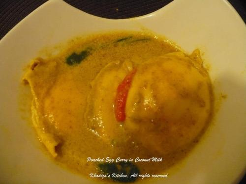 Poached Egg Curry in Coconut milk