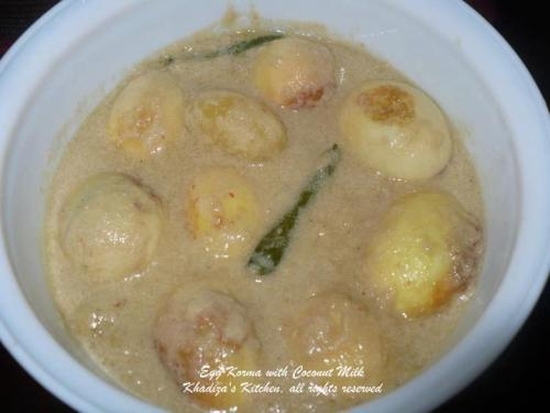 Egg / Dimer Korma with coconut milk