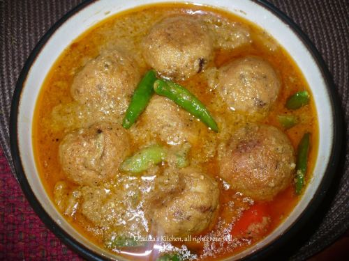 Kofta Korma Curry of Rohu Fish/ Rui Macher Kofta Korma Curry