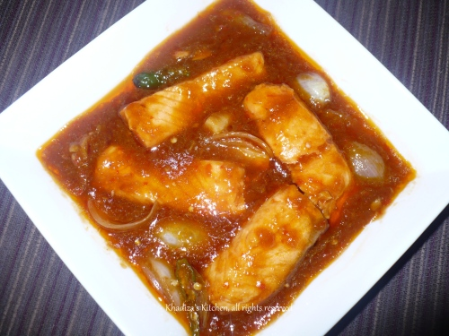 Sweet n Sour Salmon -Super Quick, Super Easy and Super Yummy