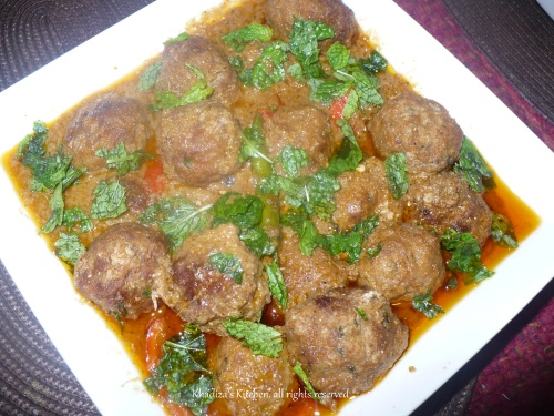 Beef Kofta Korma Curry