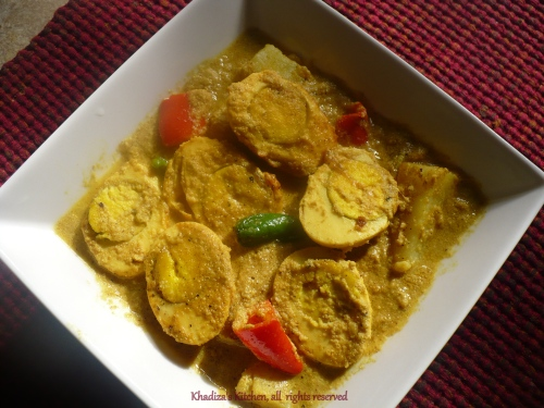 Dim-Aloo-Posto ( Egg curry in poppy seed paste and with potato)