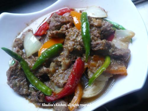 Beef Capsicum (Indo- Chinese Style)