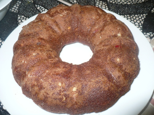 Bundt Pan Chocolate Fruits Cake