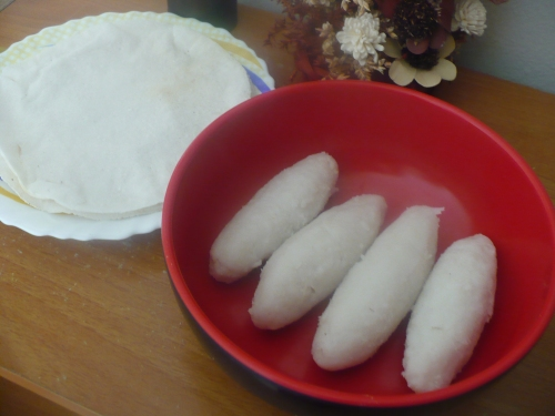 Chaaler ruti and mera pitha / rice four roti and mera pitha