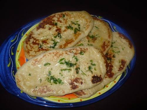 Garlic-Sesame Naan