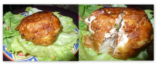 Whole Stuffed Cauliflower Roast, deep fried version