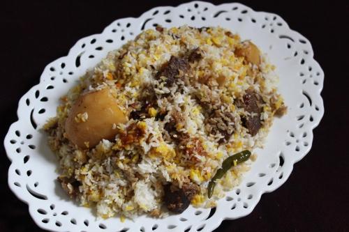 Lucknowi Mutton Biriyani or Mutton Pulao