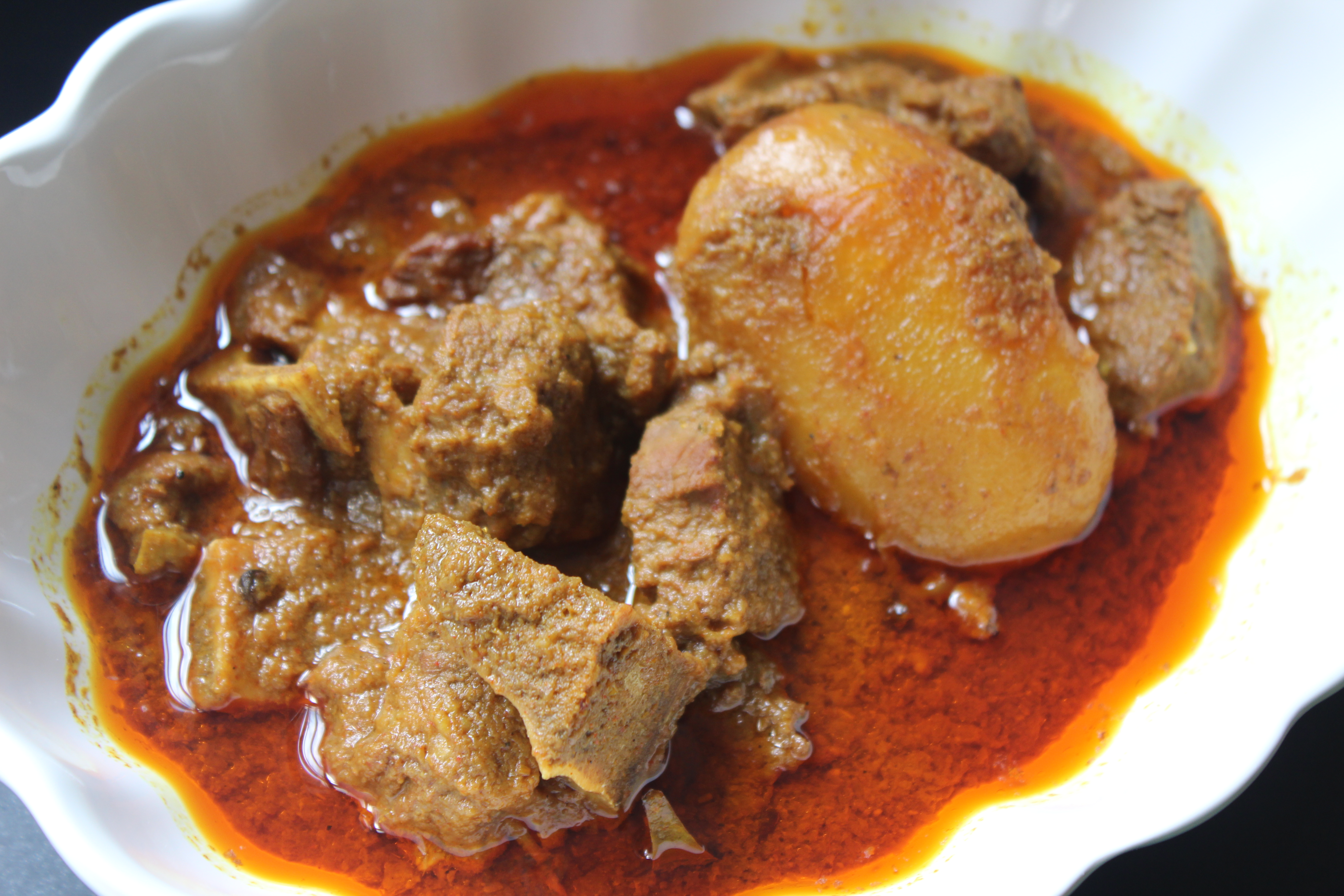Bangladeshi rustic style beef curry with potatoes khadizas kitchen 002 forumfinder Images