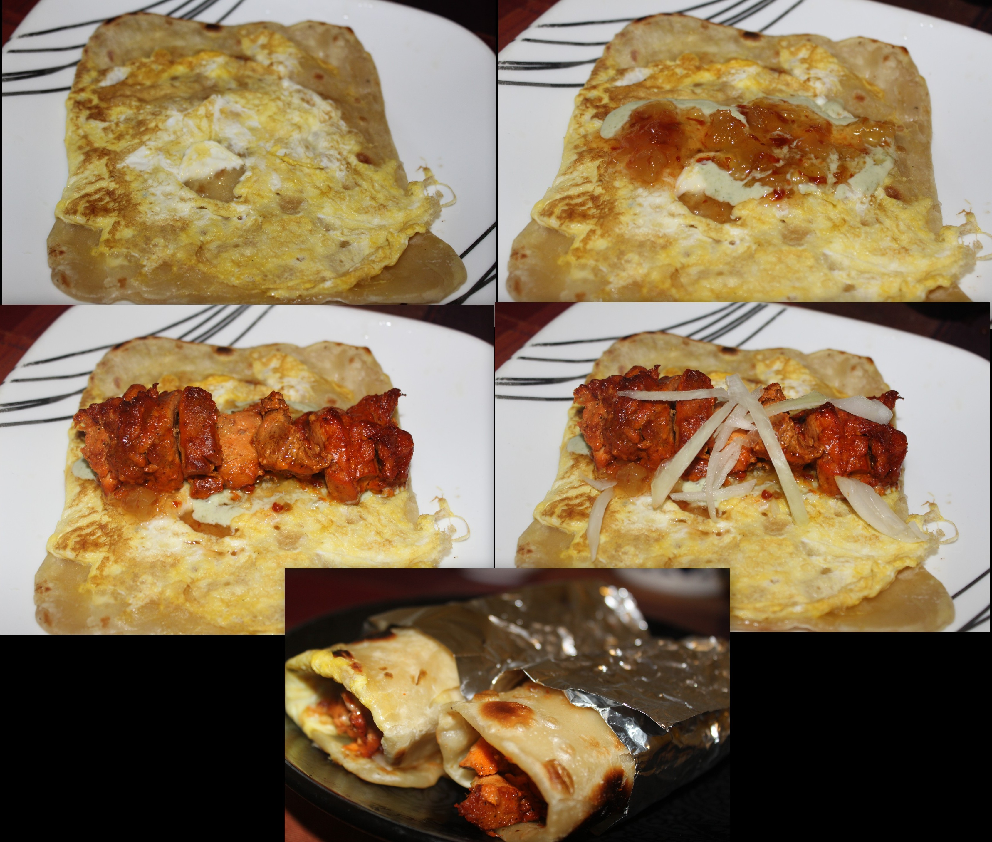 Chicken Kathi Roll Chicken Tikka Roll Kati Roll Khadiza S Kitchen